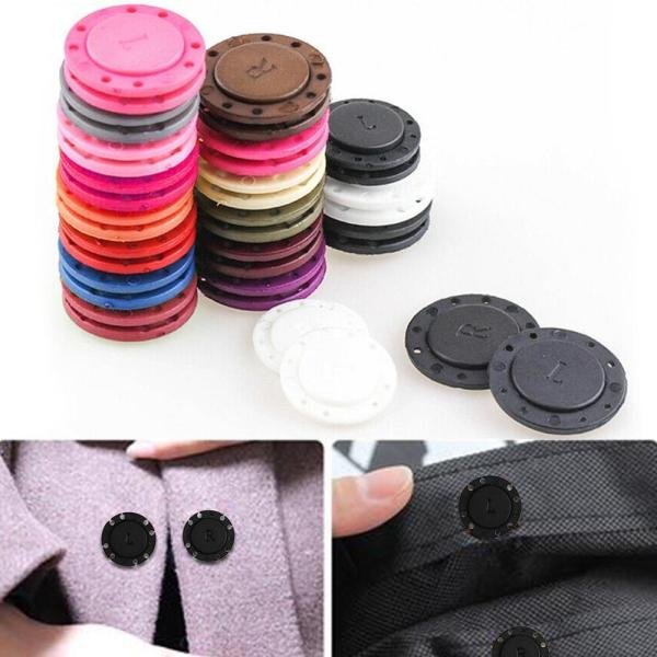 a pair Sewing Supplies Magnet Stone Dark Buckle Automatic Magnetic Buttons DIY Bag Double Sided Magnet
