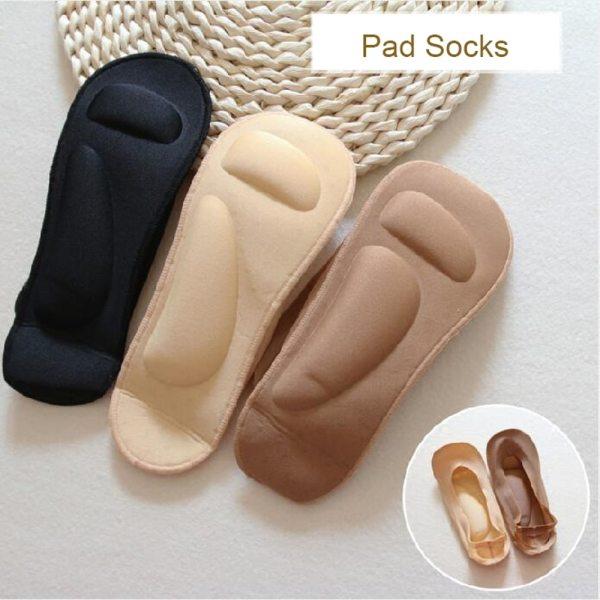 1 Pair Foot Massage Women Summer Socks Arch Support 3D Socks Health Care Silica Gel Pads