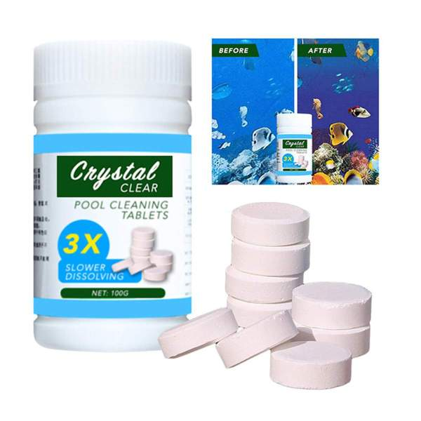 100g Swimming Pool Cleaning Tablets Purify Water Disinfect Chlorine Pills Instant Effervescent Foaming Cleaners Toilet Cleaning