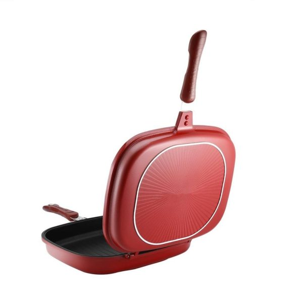 Double Sided Frying Pan Non Stick Barbecue Cooking Tool Stable Durable And Reliable Cookware Suitable For