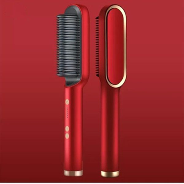 Electric Professional Hair Straightener Brush Heated Comb Straightening Combs Men Beard Hair Straight Curly Styling Tool