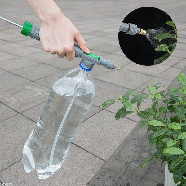High pressure air pump manual sprayer adjustable beverage bottle spray nozzle nozzle garden watering tool supplies
