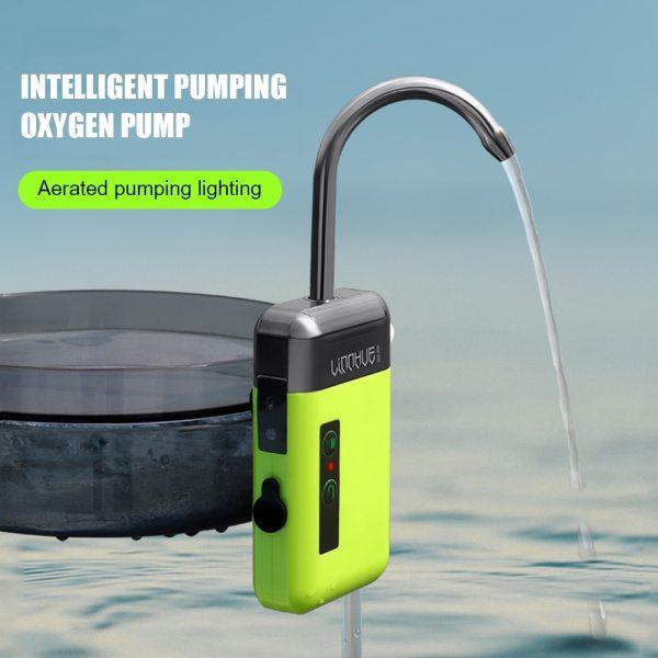 LEO USB Intelligent Sensor Water Oxygen Pump Portable Smart Induction LED Lighting Outdoor Fishing Oxygenation Air
