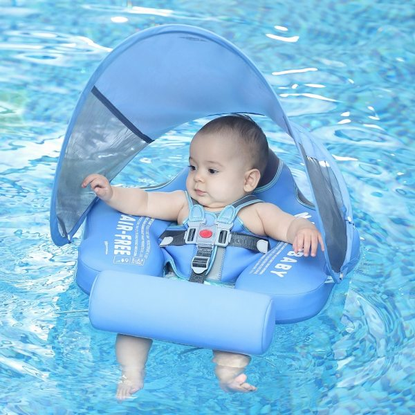 Mambobaby Solid Non inflatable Newborn Baby Waist Float Lying Swimming Ring Pool Toys Swim Ring Swim