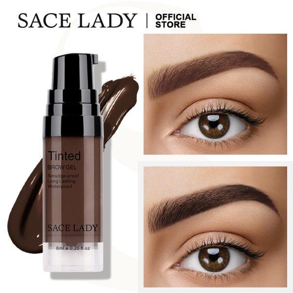 SACE LADY Waterproof Eyebrow Gel Makeup Eye Brow Wax Lasting 48 Hours Tint Cream Make Up