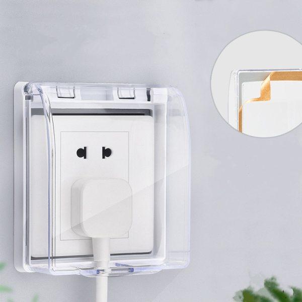 Self adhesive 86 type wall socket waterproof box nail free glue paste Doorbell board panel Cover