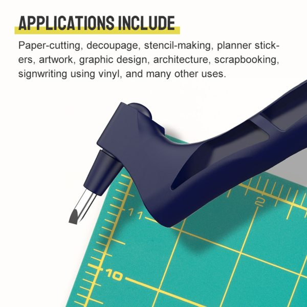 2021 DIY Art Cutting Tool Craft Cutting Kinfe With 360 Stainless Steel Rotating Blade Safety Cutter