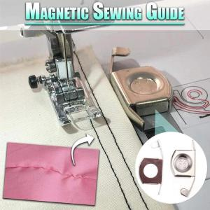 2pcs Magnetic Seam Guide Universal Magnetic Seam Guide Press Feet For Sewing Machines DIY Crafts Parts 1