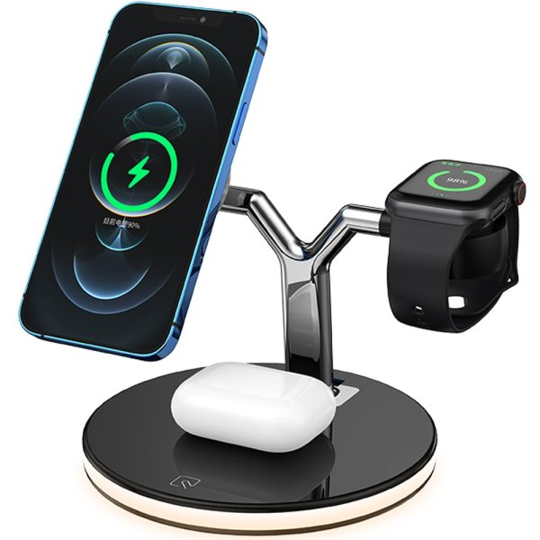 3 in 1 Magnetic Wireless Charger 15W Fast Charging Station for Magsafe iPhone 12 pro