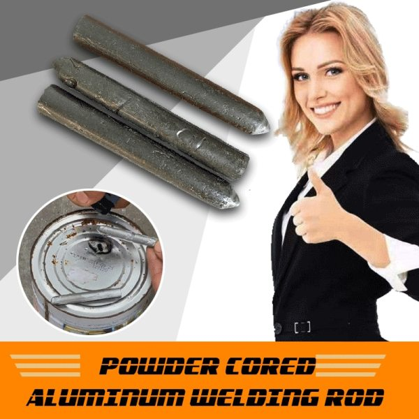 3PCS Powder Cored Aluminum Welding Rod Easy Melt Aluminum Welding Rods Weld Bars Cored Wire Rod