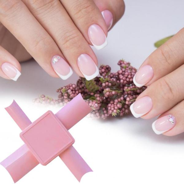 60 Hot Sale Nail Art Tool Professional Edge Painted Plastic Fashion Nail Tip Dip for Nail