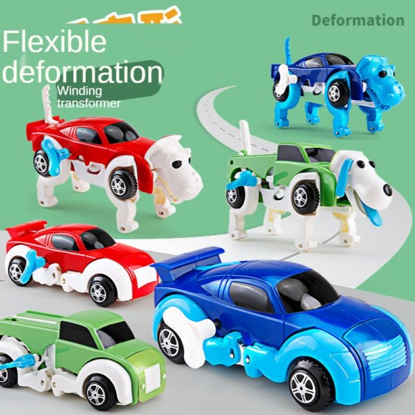 Children s clockwork toy dog on the chain deformable dinosaur small animal boy baby car toy