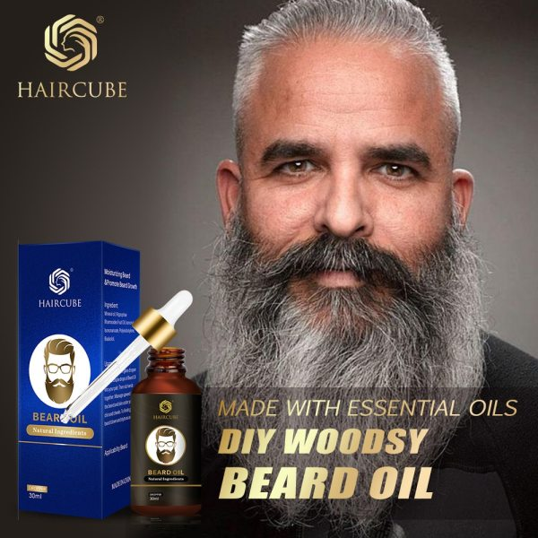 Haircube Men Fast Beard Growth Oil Natural Beard Growth Enhancer Thicker Oil Nourishing Leave in Conditioner