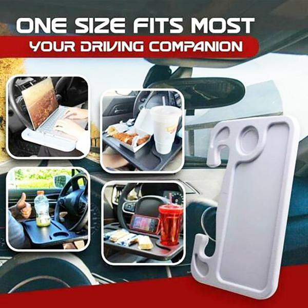 Portable Car Laptop Computer Desk Mount Stand Steering Wheel Eat Work Drink Food Coffee Goods Tray