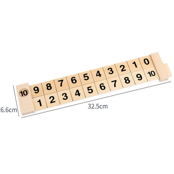 Wooden Math Arithmetic Early Education Educational Montessori Gifts Toys Ruler Learning Toy Children Addition 1 10