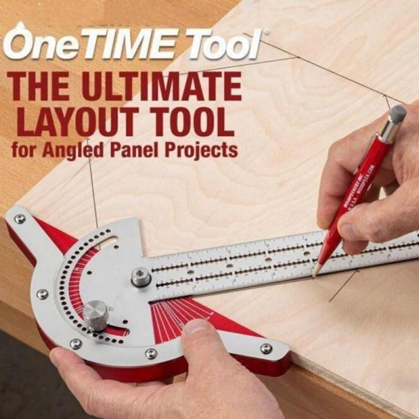 Woodworkers Edge Rule Efficient Protractor Angle Protractor Woodworking Ruler Angle Measure Stainless Steel Carpentry Tool
