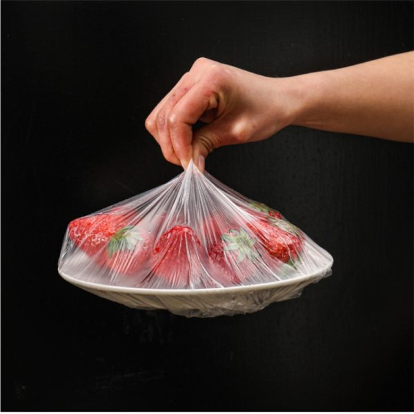 100Pcs Disposable Fresh Keeping Set Household Fresh Keeping Bowl Cover Kitchen Packaging Bag Vegetable and Fruit