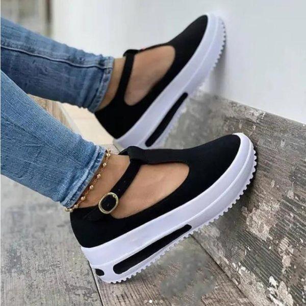 Summer Women s Sandals Vintage Wedge Shoes Woman Buckle Strap Straw Thick Bottom Flats Platform Sandals
