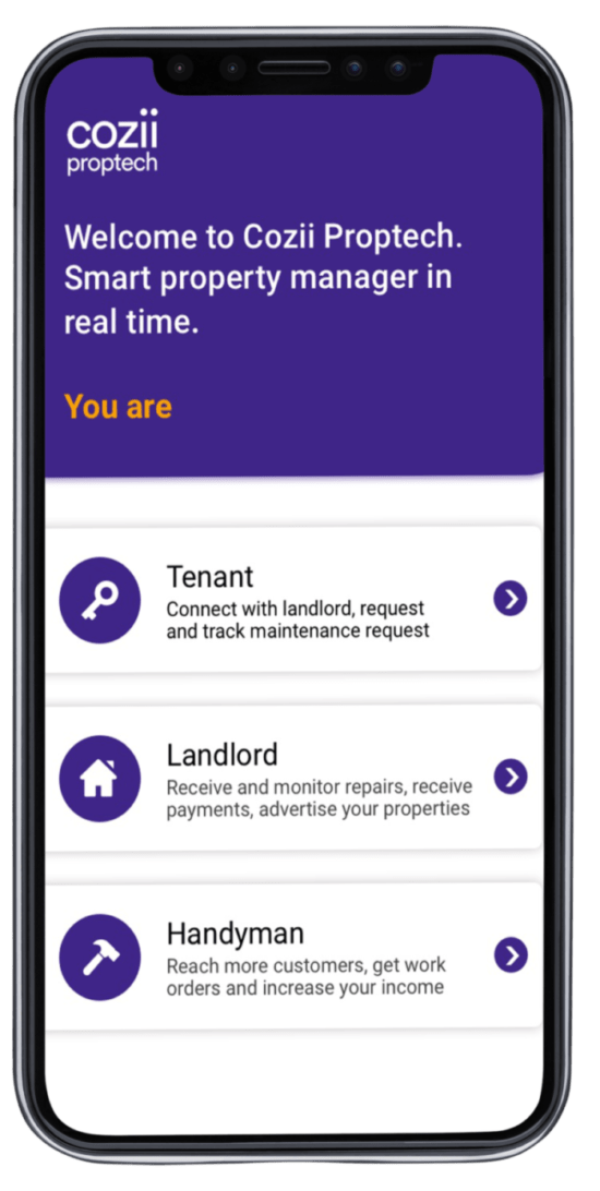 Cozii Proptech App for Property Managment