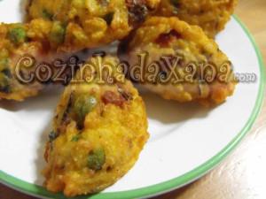 Pastéis de arroz com chouriço