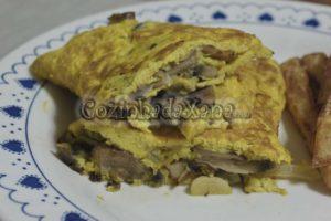 Omeleta de cogumelos