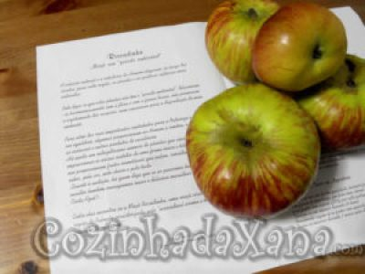 Doce de maçã riscadinha