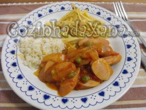 Salsichas de tomatada