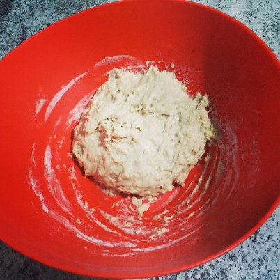 Fermento de pão, antes de crescer.