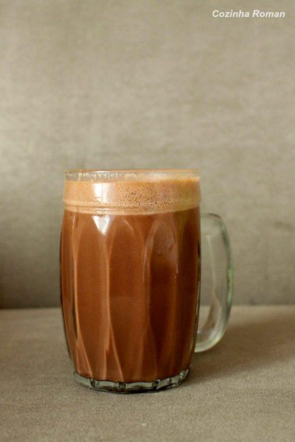chocolate quente espumante