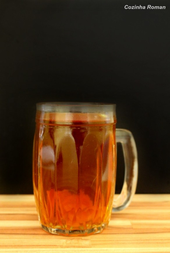 chá com rum