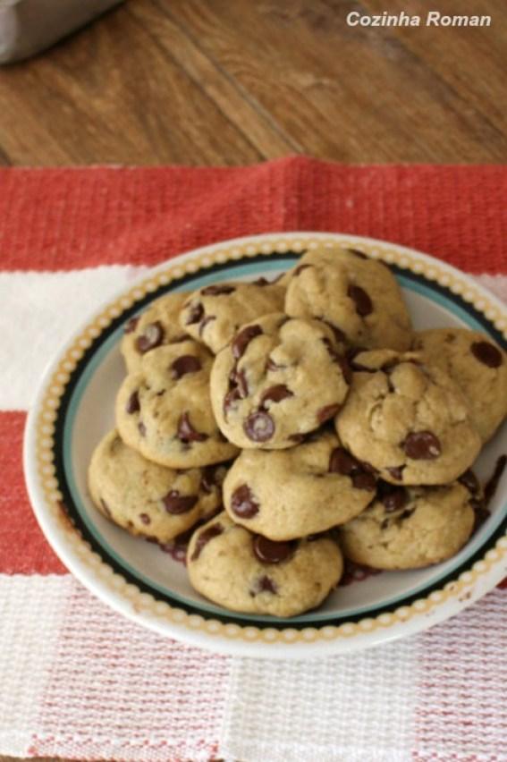 cookies veganos com gotas de chocolate