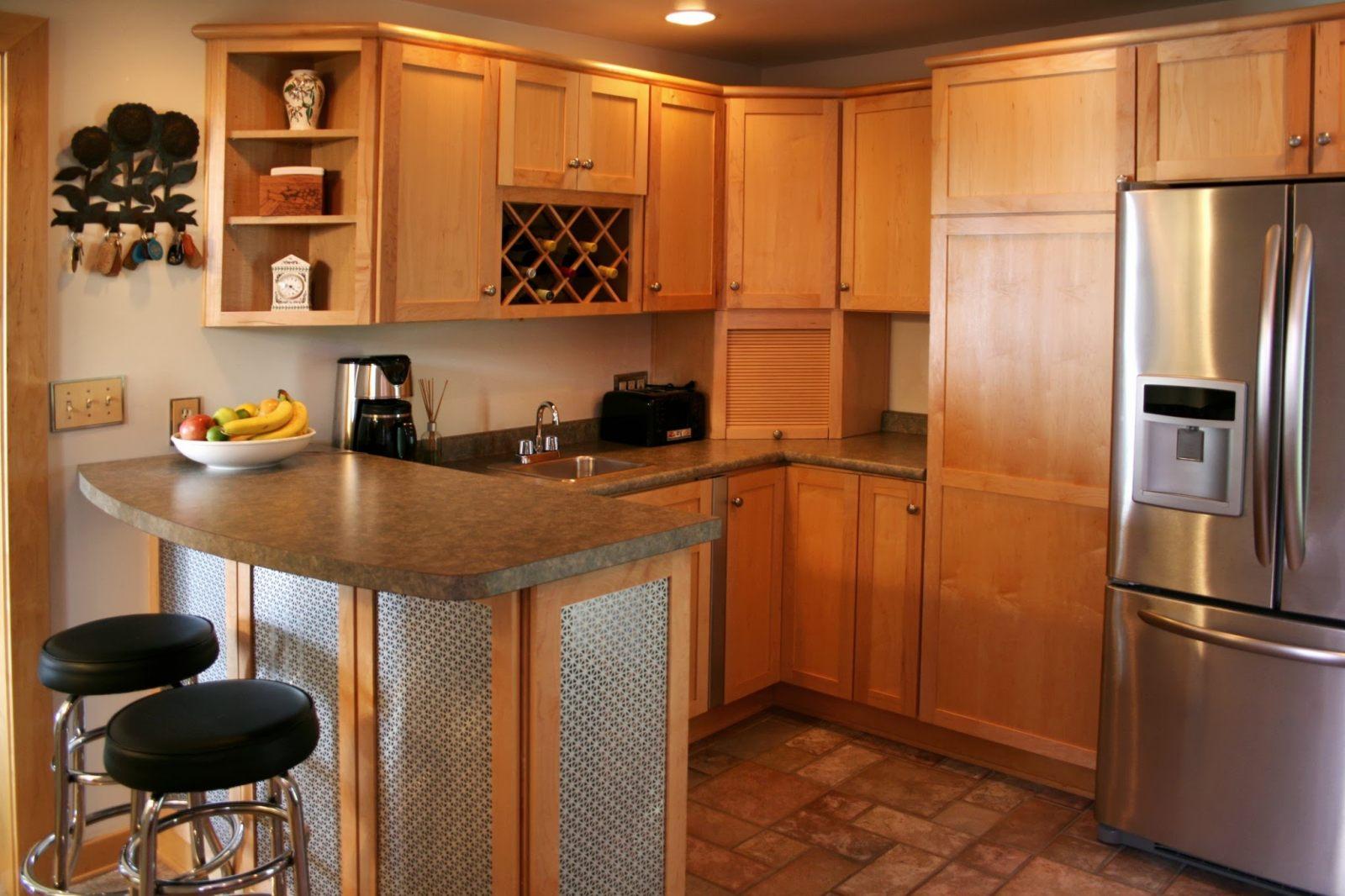 Cozinha americana com bancada  Fotos e imagens