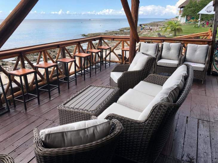 The lounge seating at the new Cozumel Restaurant, Hemingway