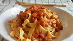 Cozumel My Cozumel K'ooben Laab spaghetti dish