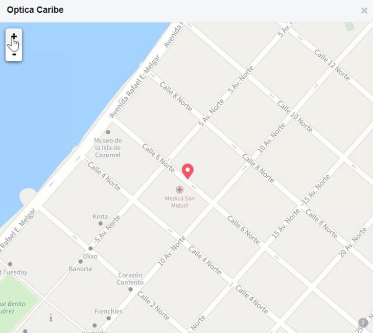 Cozumel Eye Glass Donation Map to Optica Caribe