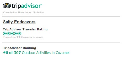 TripAdvisor Certificate Of Excellence - Cozumel Scuba Diving