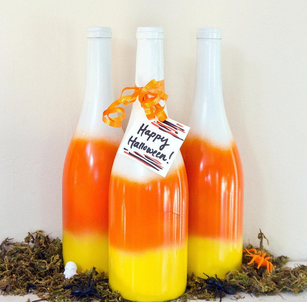 Botol hiasan pada Halloween