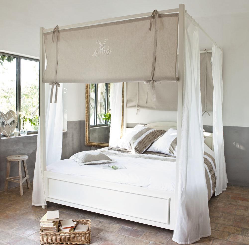 Baldakin över sängen grå Baldakin över sängen grå