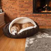 dog cave bed large - 28 images - collared creatures dog ...