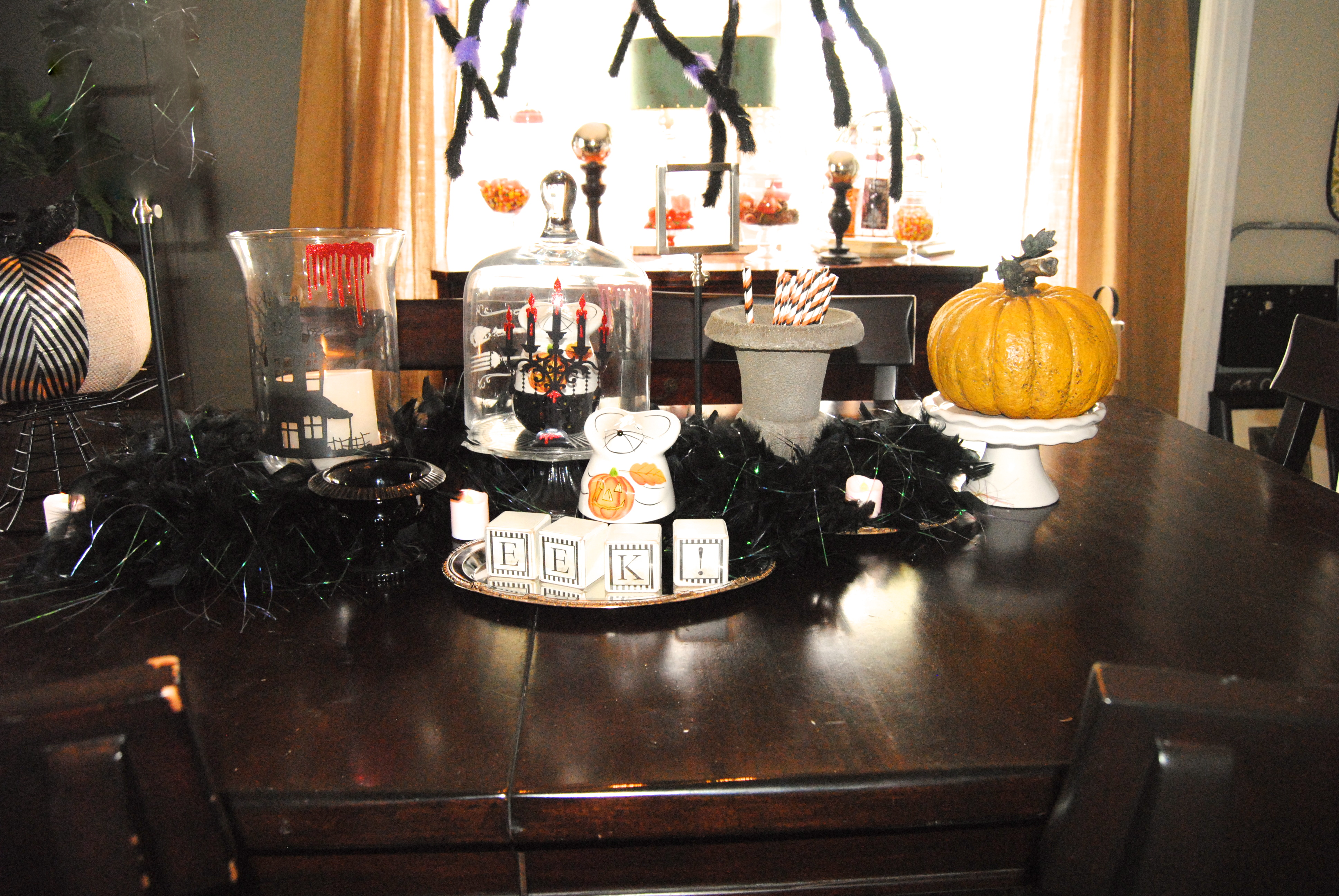 Scary Halloween Dining Room Decor  Our Cape on Cabot Road