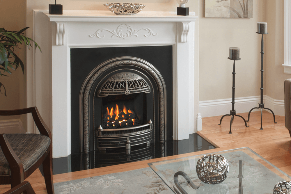 Valor Portrait Windsor Arch Gas Fireplace  ZeroClearance