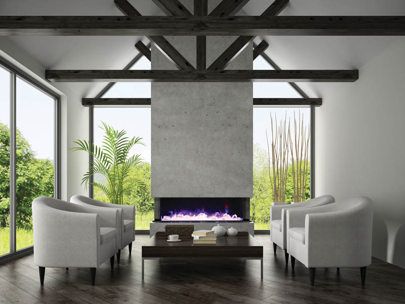 Amantii 72TRUVIEWXL  3 Sided Electric Fireplace  Toronto Best Price