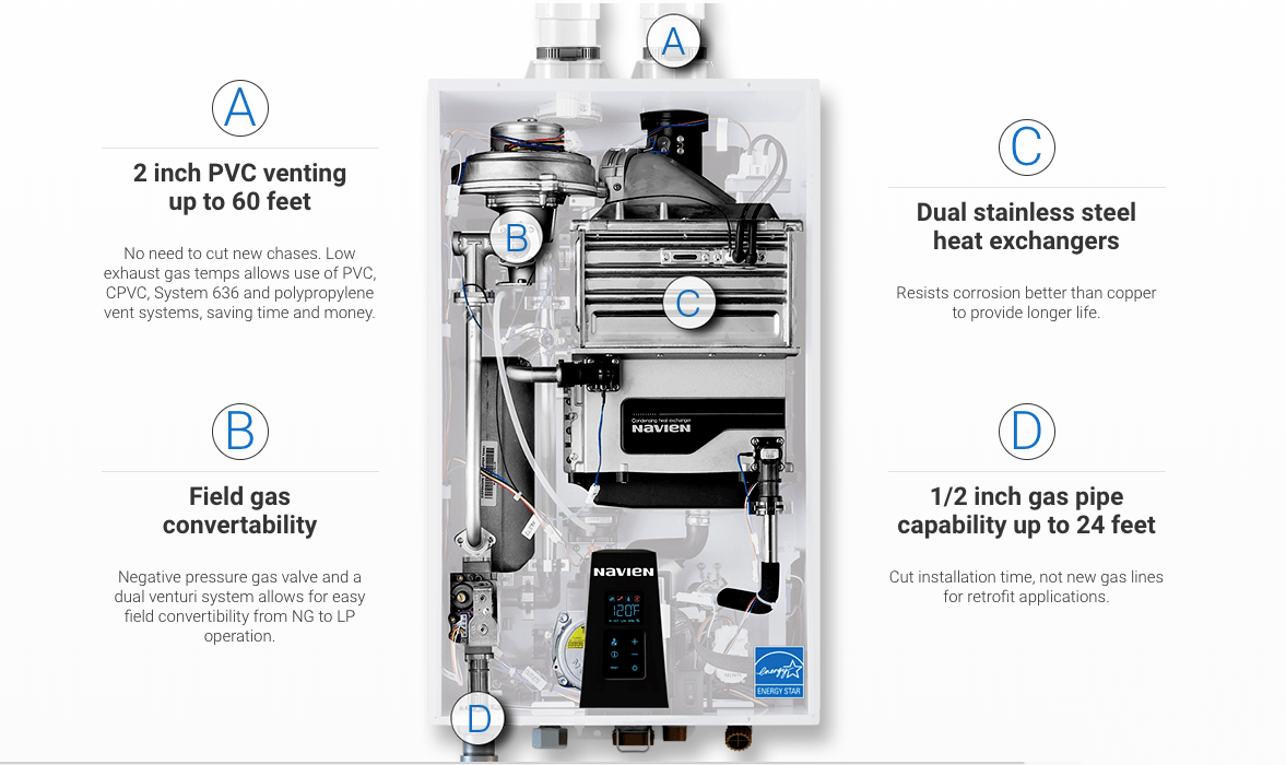 hight resolution of navien npe 180a condensing tankless water heater