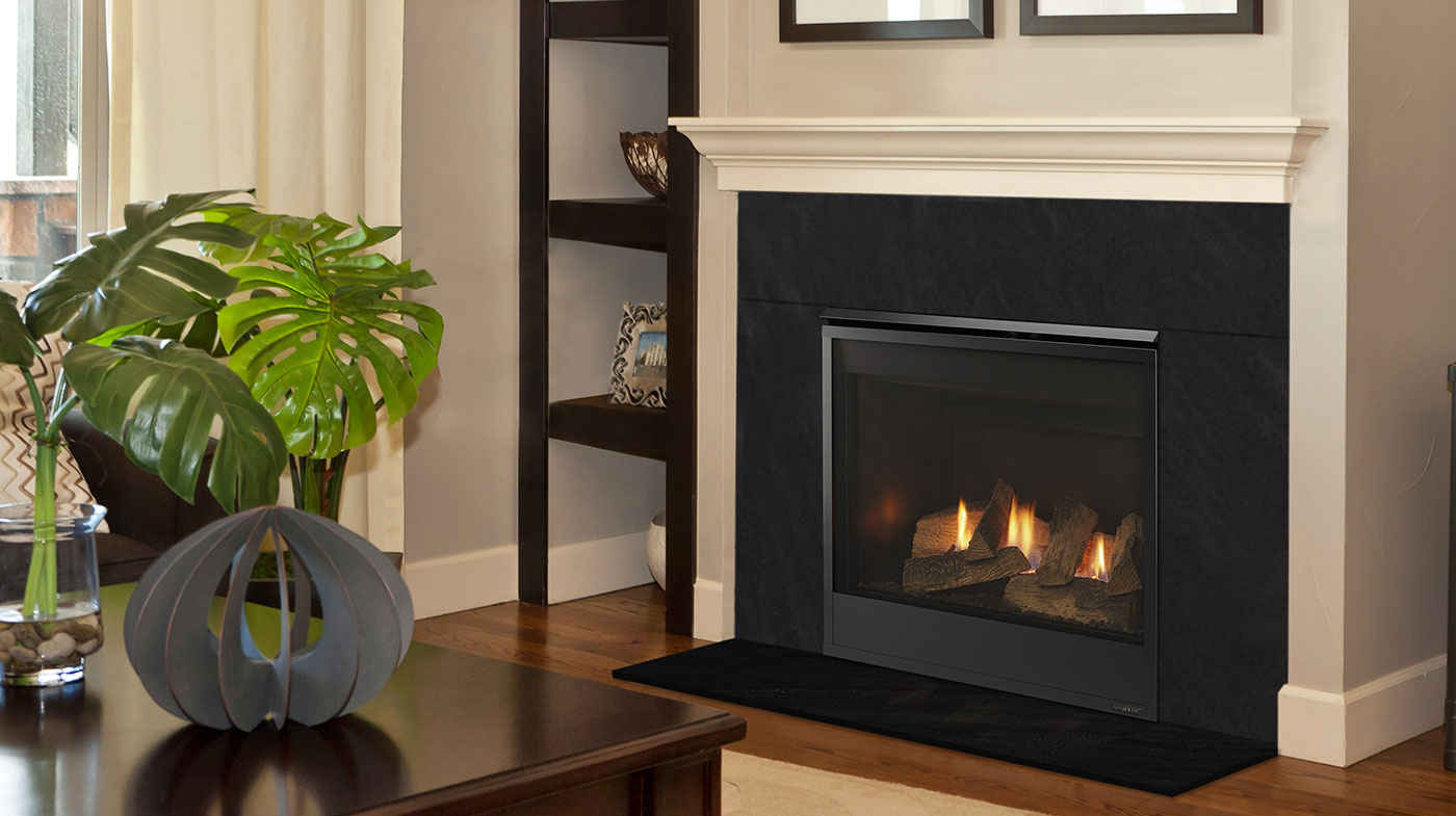 Majestic Mercury Series Gas Fireplace  Traditional DV Rear Vent