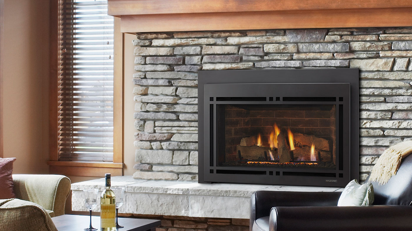 Majestic Fireplaces Gas Fireplaces Majestic Ruby Gas Inserts Series Gas Fireplace | Direct