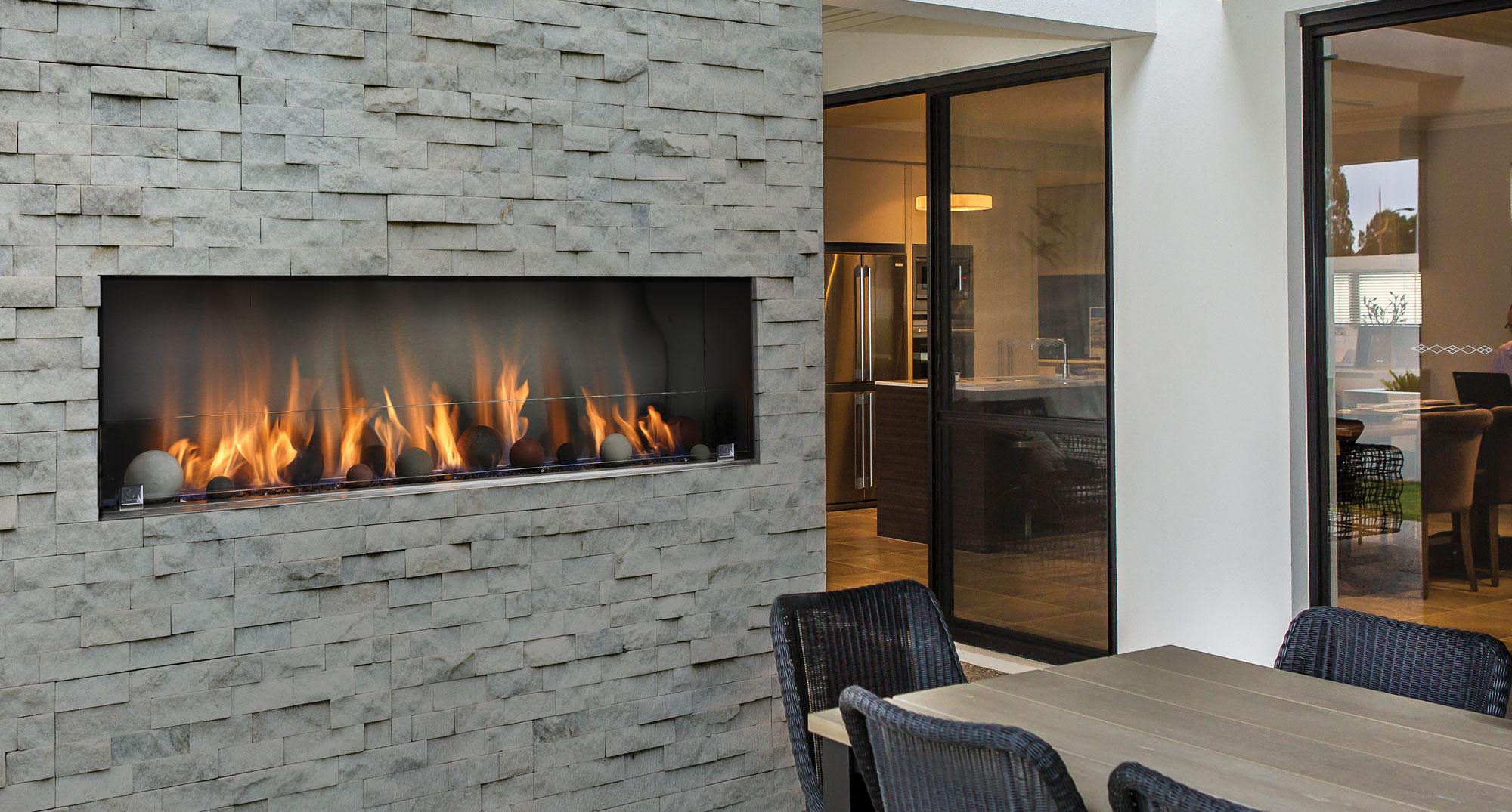 Barbara Jean Outdoor Linear Fireplaces
