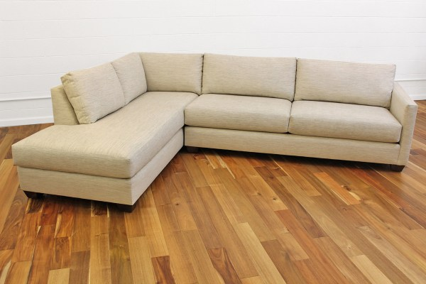 Damon Sofa With Bumper Chaise Sectional - Cozy Couch Sf
