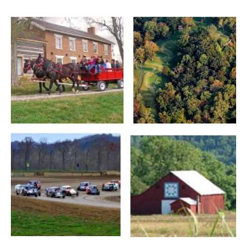 To find more detailed information about Adams County and its many attractions, like the famous Serpent Mound, Brushcreek Motor Sports, and the Quilt Barn Auto Tour, you can visit the travel and visitor's bureau website adamscountytravel.org.