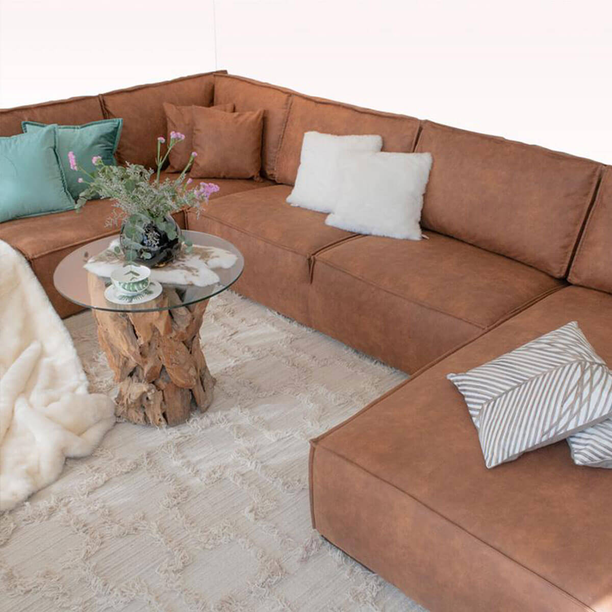 Adel U Shaped Sectional Lounger