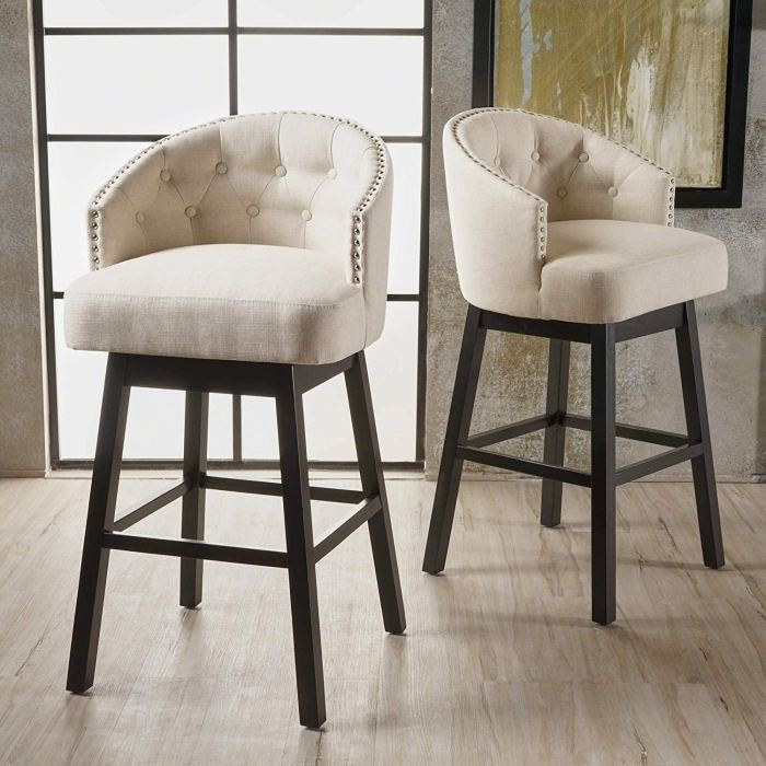 10 Best Ing Swivel Bar Stools With, Kitchen Island Chairs With Backs